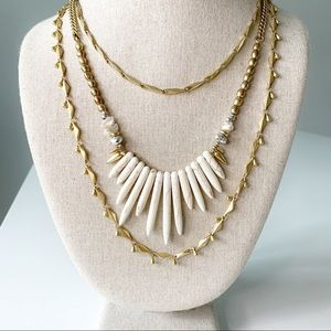 Stella&Dot - Mixed Gold Layered Necklace
